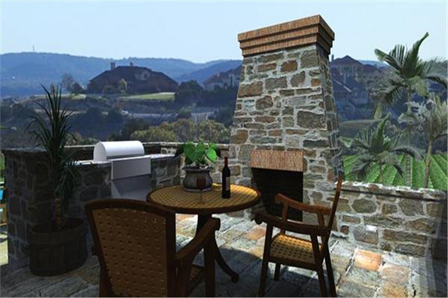 Outdoor Kitchen of this 3-Bedroom,2106 Sq Ft Plan -2106