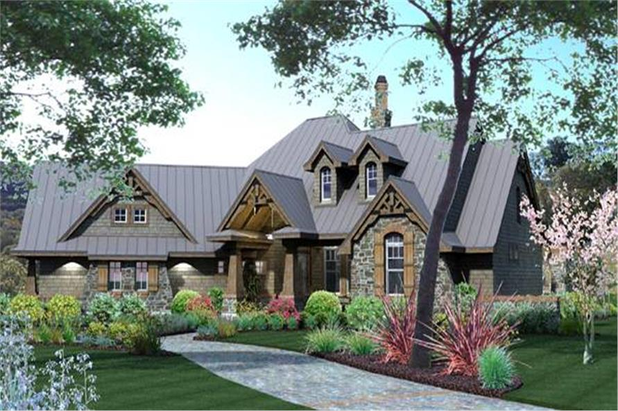 Home Plan Rendering of this 3-Bedroom,2106 Sq Ft Plan -2106