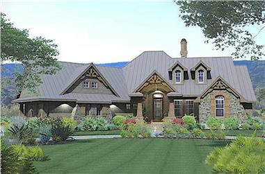 Ranch home plan (ThePlanCollection: House Plan #117-1108)