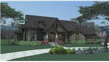 Front elevation of Cottage home (ThePlanCollection: House Plan #117-1109)