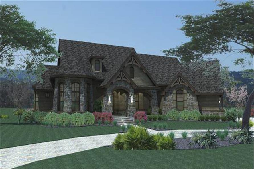 Home Plan Rendering of this 3-Bedroom,2595 Sq Ft Plan -117-1109