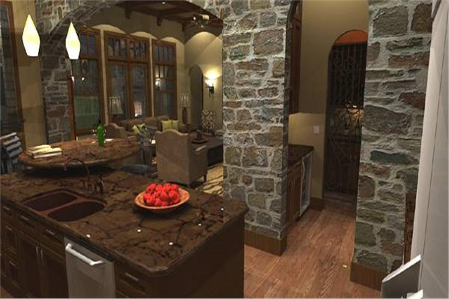 Kitchen of this 4-Bedroom,3349 Sq Ft Plan -117-1110