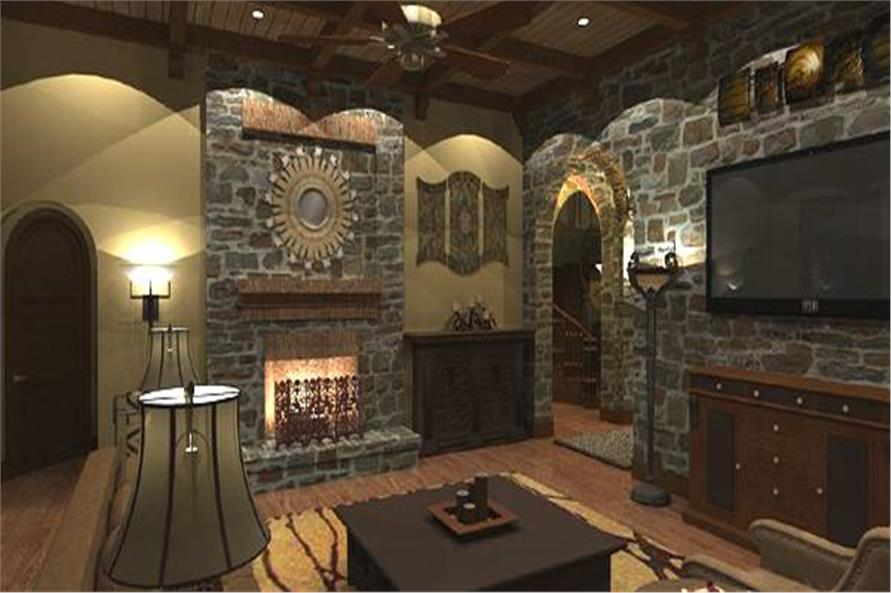 Family Room of this 4-Bedroom,3349 Sq Ft Plan -117-1110