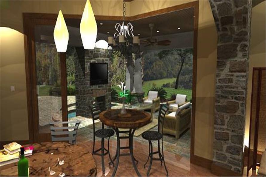 117-1110: Home Interior Photograph-Kitchen: Breakfast Nook