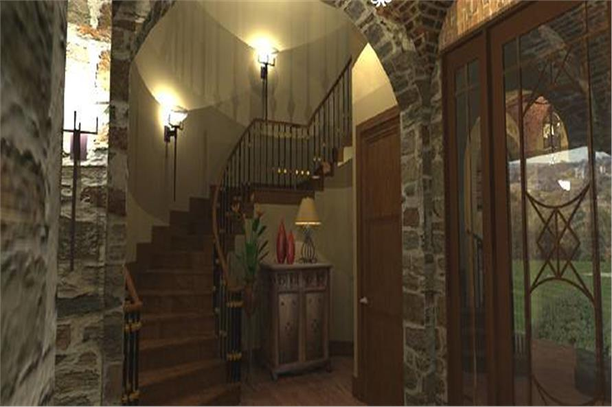 Entry Hall: Staircase of this 4-Bedroom,3349 Sq Ft Plan -117-1110