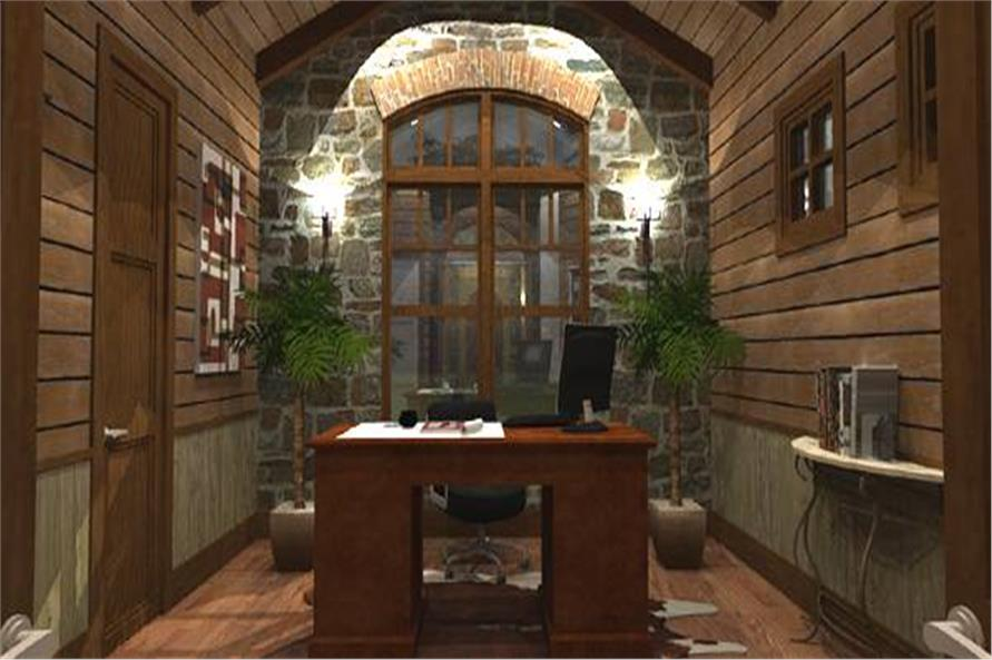 Home Office of this 4-Bedroom,3349 Sq Ft Plan -117-1110