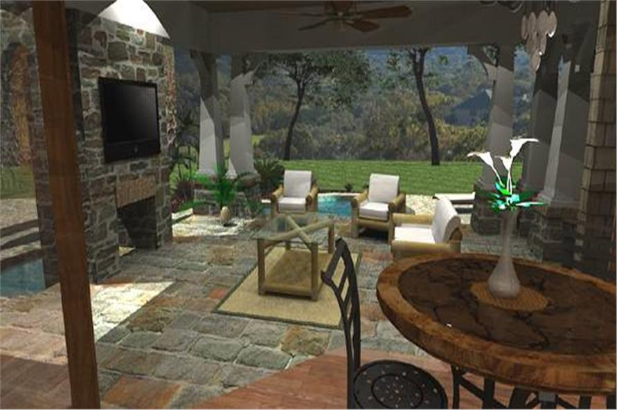 Patio of this 4-Bedroom,3349 Sq Ft Plan -117-1110