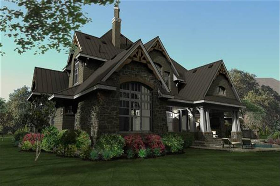 Rear View of this 4-Bedroom,3349 Sq Ft Plan -117-1110