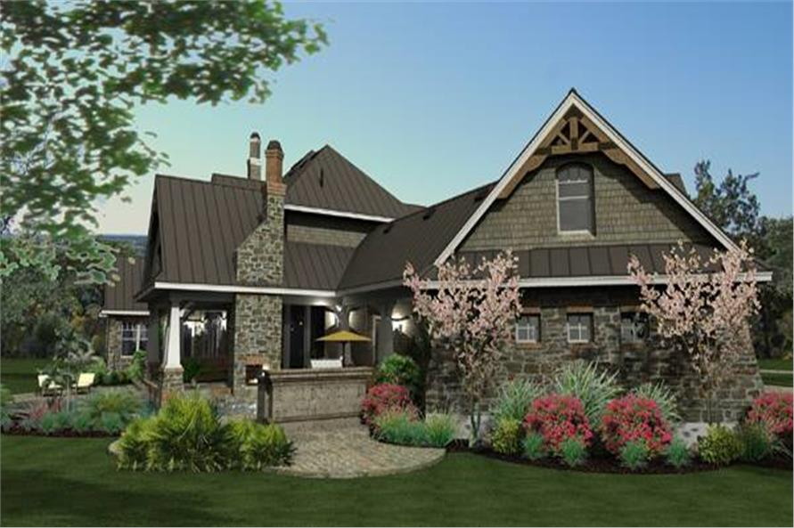 Left View of this 4-Bedroom,3349 Sq Ft Plan -117-1110