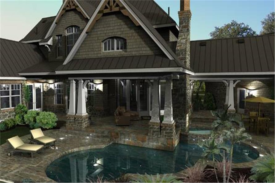 Pool of this 4-Bedroom,3349 Sq Ft Plan -117-1110