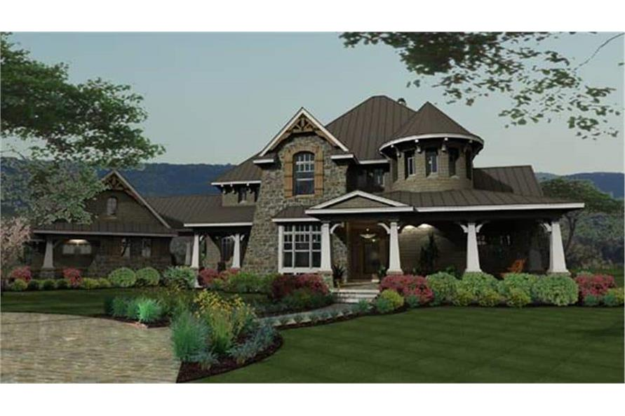 Front View of this 4-Bedroom,3349 Sq Ft Plan -117-1110