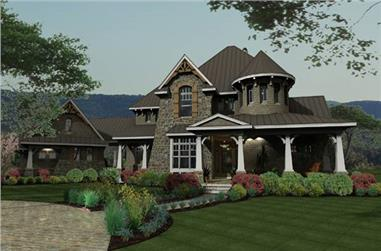 Front elevation of Cottage home (ThePlanCollection: House Plan #117-1110)