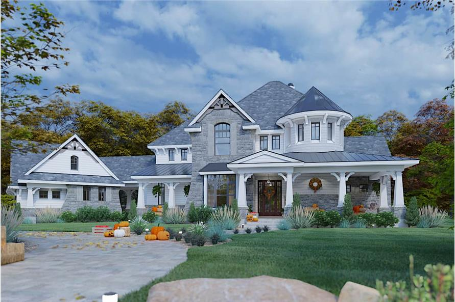 4-Bedroom, 3349 Sq Ft Farmhouse House - Plan #117-1110 - Front Exterior