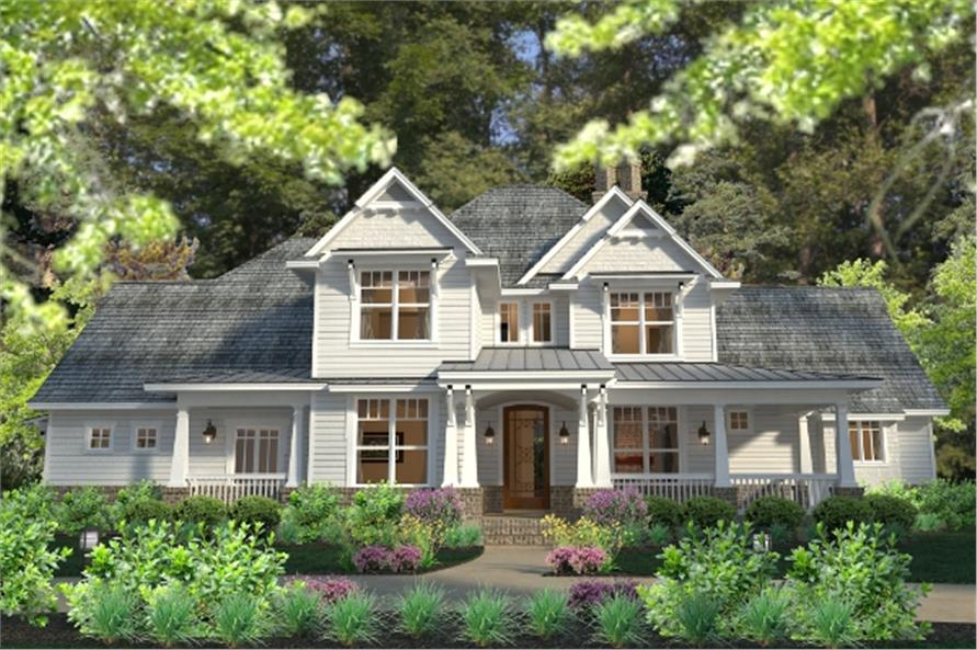 3-Bedroom, 2575 Sq Ft Southern House Plan - 117-1113 - Front Exterior