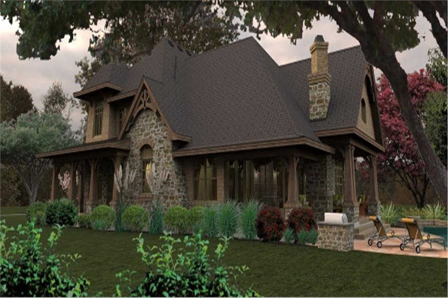 Home Plan Rendering of this 4-Bedroom,3069 Sq Ft Plan -117-1115