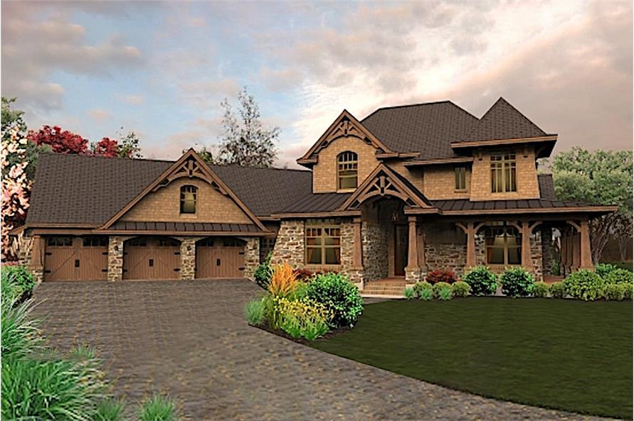 4-Bedroom, 3069 Sq Ft Cottage Home - Plan #117-1115 - Main Exterior