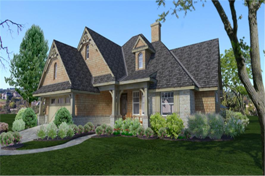 Home Plan Rendering of this 4-Bedroom,1764 Sq Ft Plan -1764