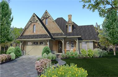 4-Bedroom, 1764 Sq Ft Cottage Home Plan - 117-1116 - Main Exterior
