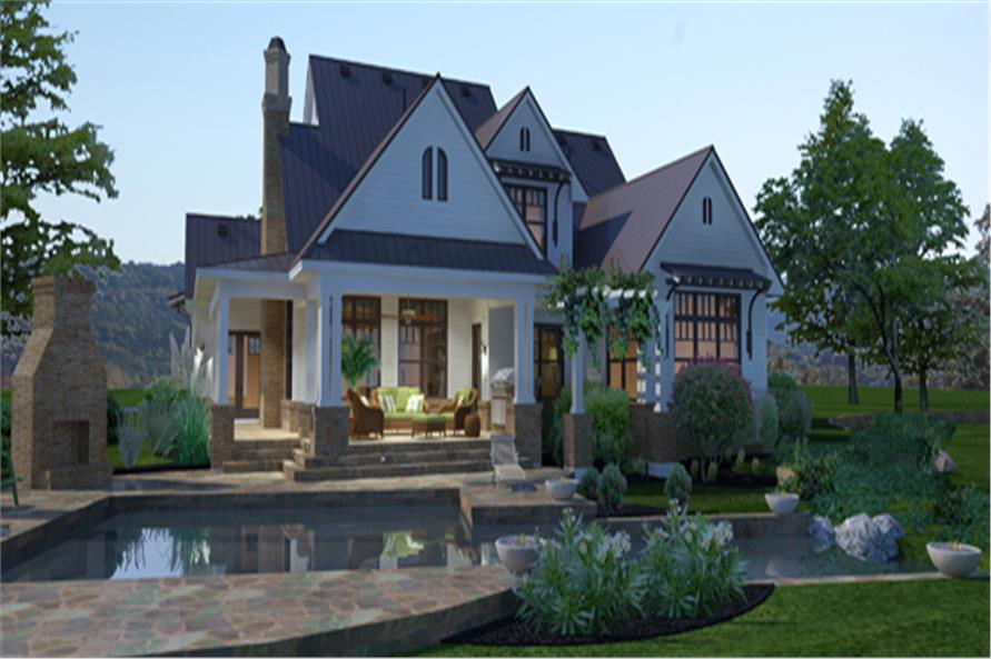 117-1117: Home Plan Rendering-Pool