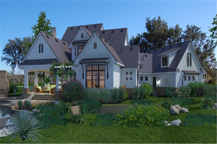Home Plan Rendering of this 3-Bedroom,2984 Sq Ft Plan -2984