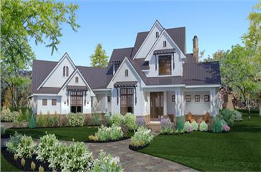 Front elevation of Country home (ThePlanCollection: House Plan #117-1117)
