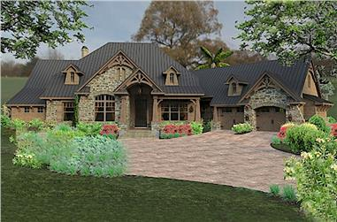 3-Bedroom, 2466 Sq Ft Ranch Home Plan - 117-1119 - Main Exterior