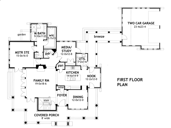 Country floor plan 3 bedrms 2 5 baths 2552 sq ft for 1120 westchester place floor plan