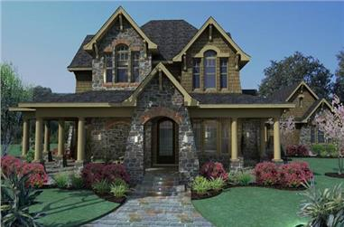 3-Bedroom, 2552 Sq Ft Country Home Plan - 117-1120 - Main Exterior