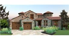 Front elevation of Mediterranean home (ThePlanCollection: House Plan #117-1122)