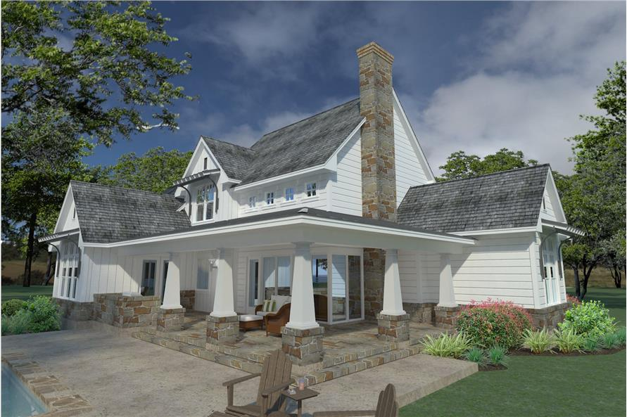 Home Plan 3D Image of this 3-Bedroom,2396 Sq Ft Plan -117-1124