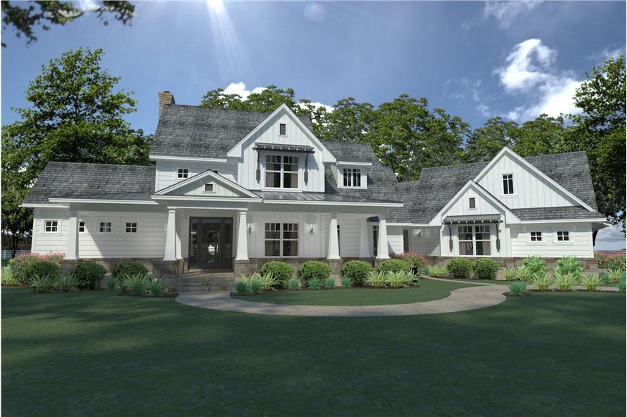 3-Bedroom, 2396 Sq Ft Farmhouse Home Plan - 117-1124 - Main Exterior