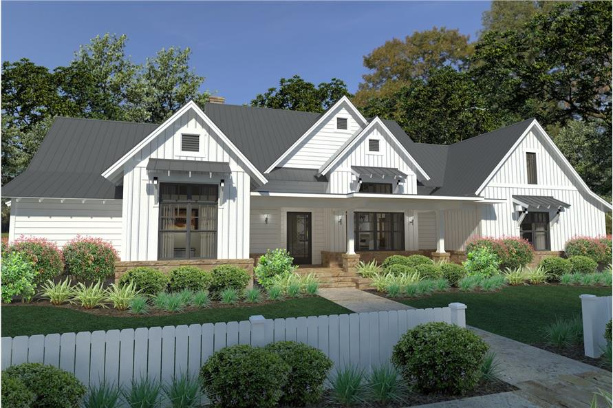 3-Bedroom, 2393 Sq Ft Cottage House Plan - 117-1125 - Front Exterior