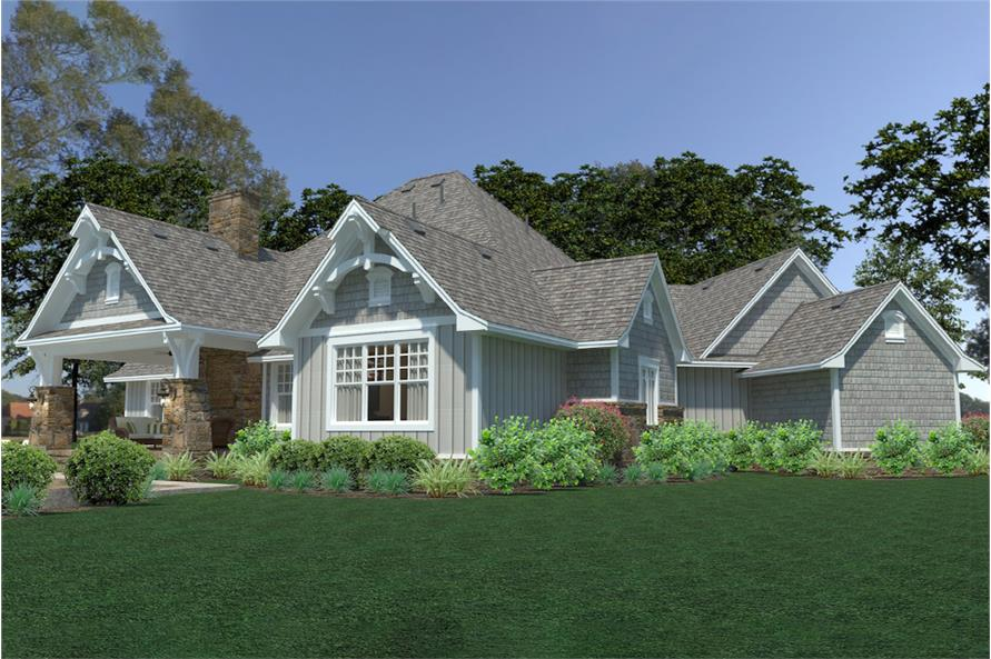 Rear View of this 3-Bedroom,2662 Sq Ft Plan -2662