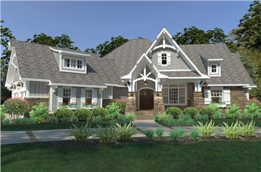 3-Bedroom, 2662 Sq Ft Cottage House Plan - 117-1126 - Front Exterior