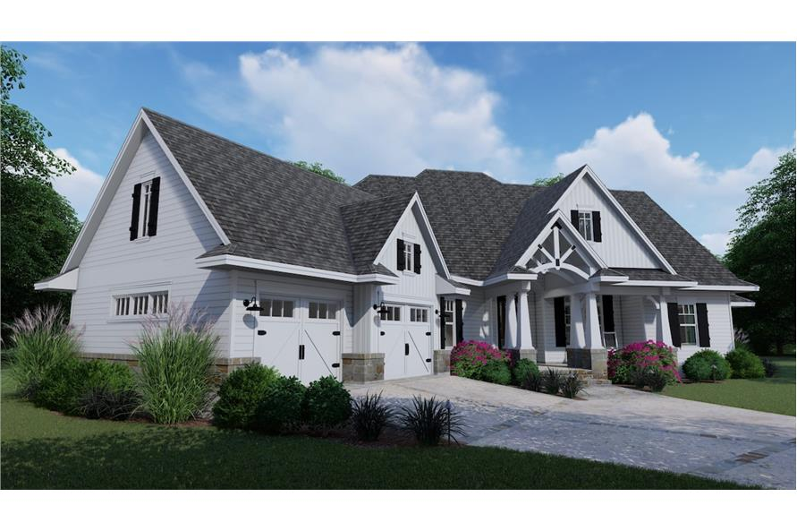 Home Plan 3D Image of this 3-Bedroom,2504 Sq Ft Plan -2504