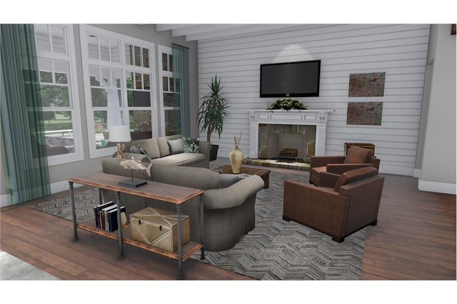 Family Room of this 3-Bedroom,2504 Sq Ft Plan -2504