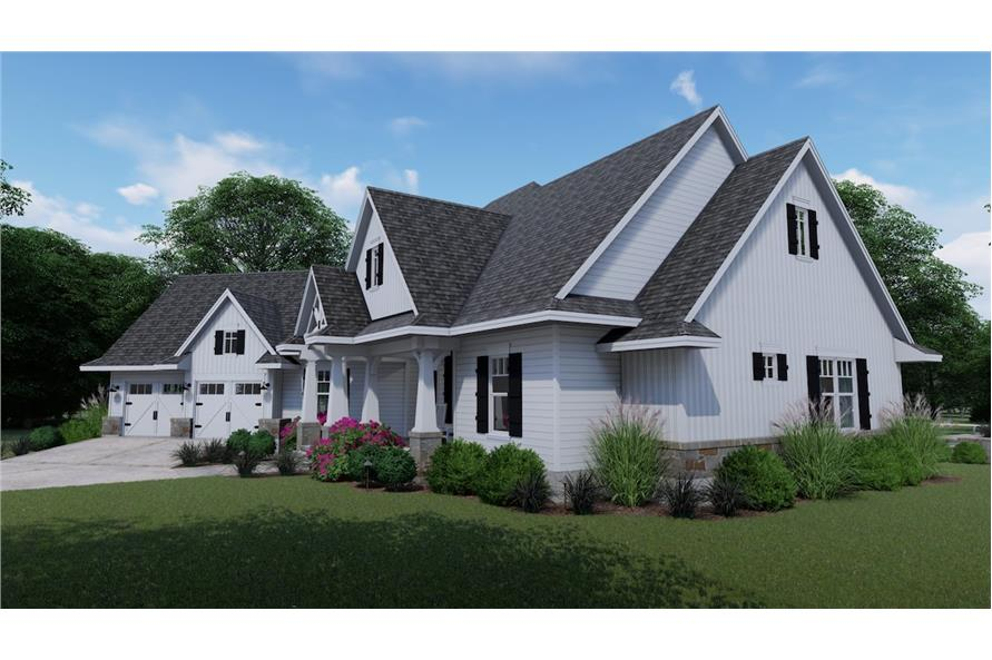 Home Plan Right Elevation of this 3-Bedroom,2504 Sq Ft Plan -117-1128