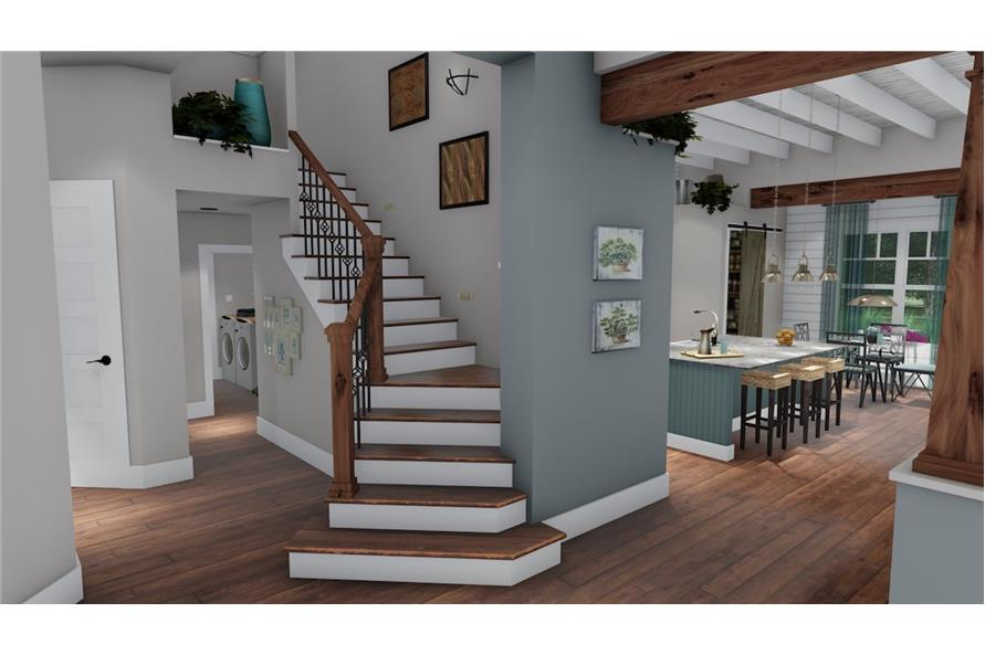 Entry Hall: Staircase of this 3-Bedroom,2504 Sq Ft Plan -2504