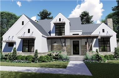 4-Bedroom, 2828 Sq Ft Country Home - Plan #117-1129 - Main Exterior