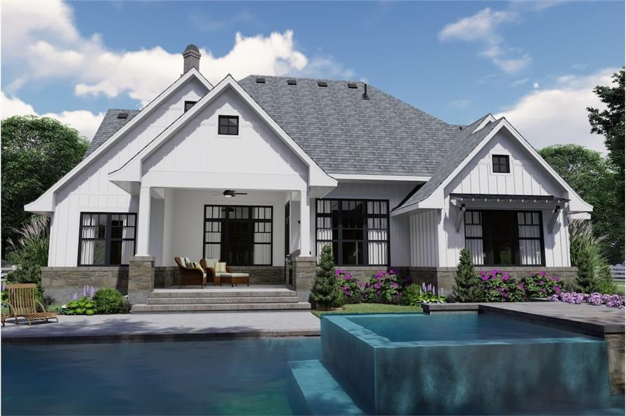 Rear View of this 4-Bedroom,2191 Sq Ft Plan -2191