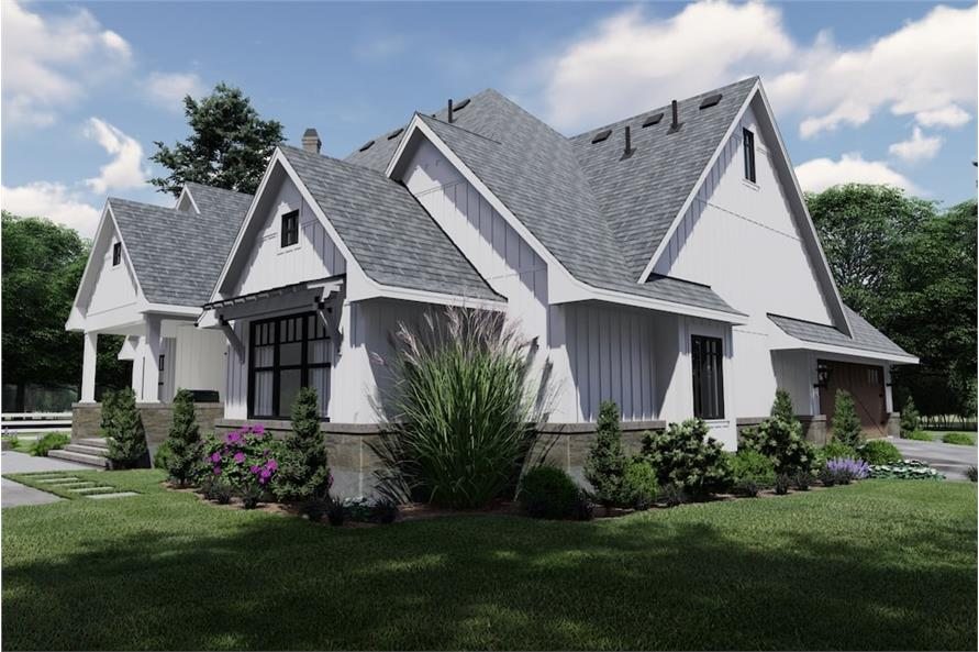 Left Side View of this 4-Bedroom,2191 Sq Ft Plan -2191