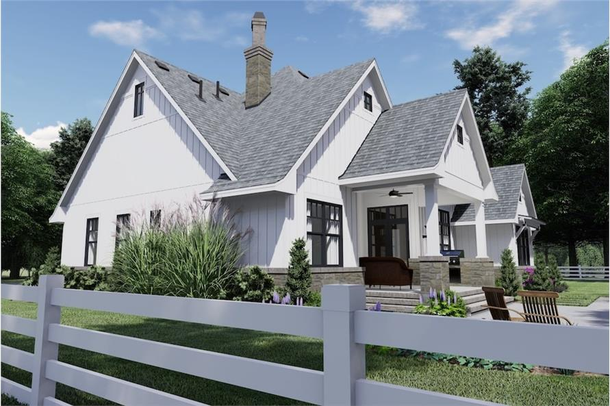 Right Side View of this 4-Bedroom,2191 Sq Ft Plan -2191