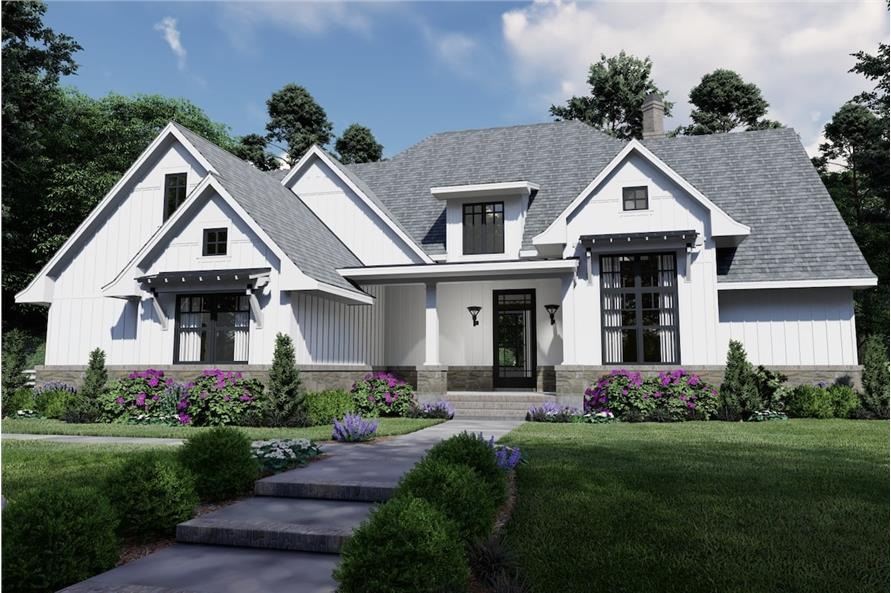 4-Bedroom, 2191 Sq Ft Cottage Home - Plan #117-1130 - Main Exterior