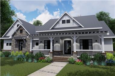 3-Bedroom, 2270 Sq Ft Contemporary Farmhouse Home- Plan #117-1131 - Main Exterior