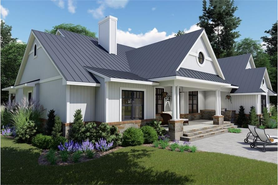 Rear View of this 3-Bedroom,2787 Sq Ft Plan -2787