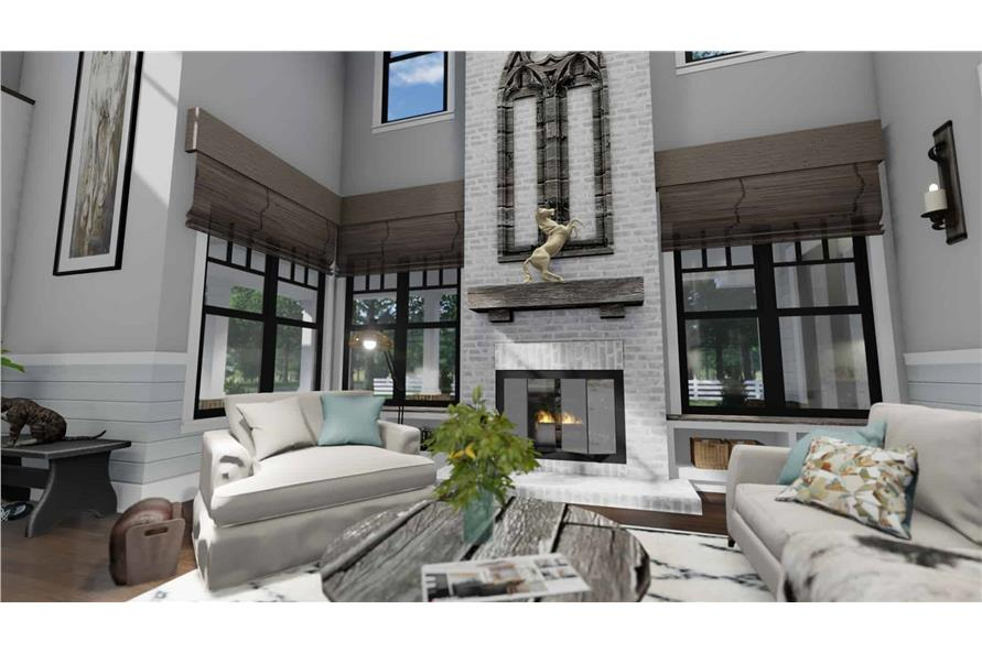 Family Room of this 3-Bedroom,2214 Sq Ft Plan -2214