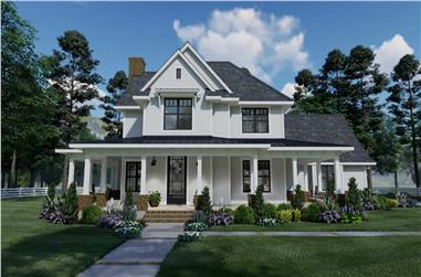 3-Bedroom, 2214 Sq Ft Farmhouse House Plan - 117-1134 - Front Exterior