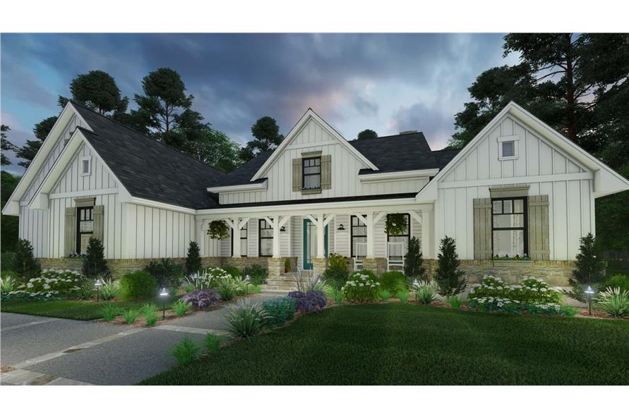Home at Night of this 3-Bedroom,2459 Sq Ft Plan -117-1135