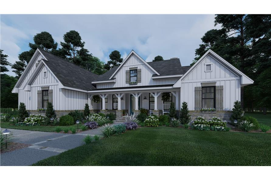 Front View of this 3-Bedroom,2459 Sq Ft Plan -117-1135