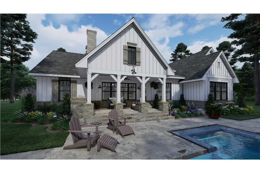 Pool of this 3-Bedroom,2459 Sq Ft Plan -117-1135